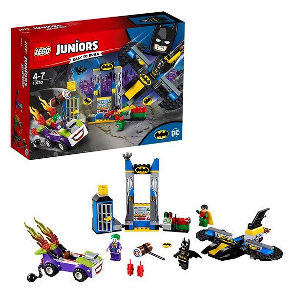 Lego Juniors 10753 Нападение Джокера на Бэтпещеру