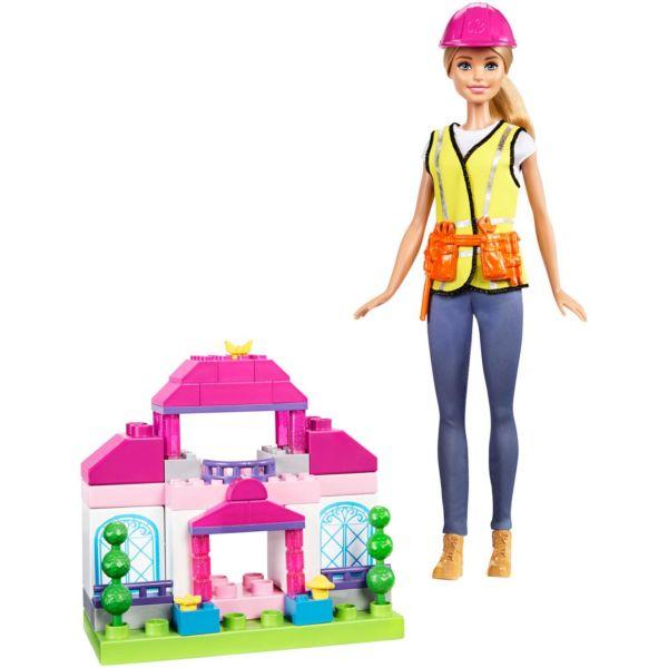 Игровой набор c Mega Bloks Строитель Barbie