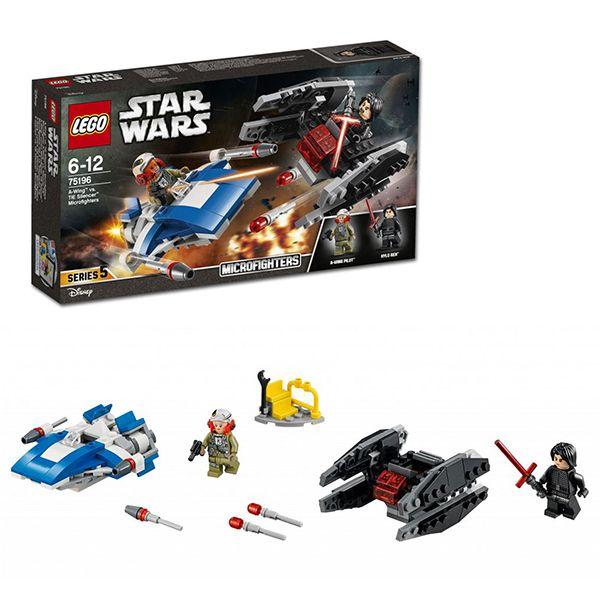 Lego Star Wars 75196 Истребитель типа A против бесшумного истребителя СИД