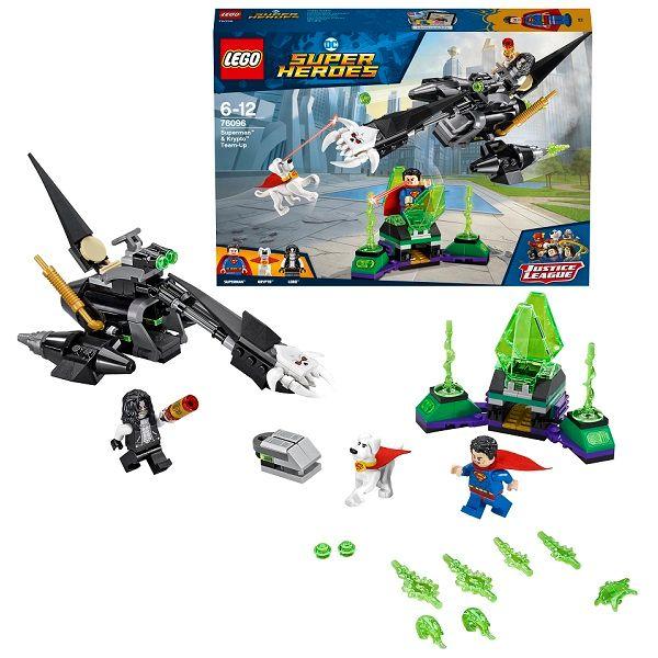 Lego Super Heroes 76096 Супермен и Крипто объединяют усилия