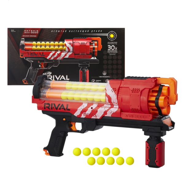 Бластер Нёрф Rival Artemis XVII-3000 красный Hasbro Nerf