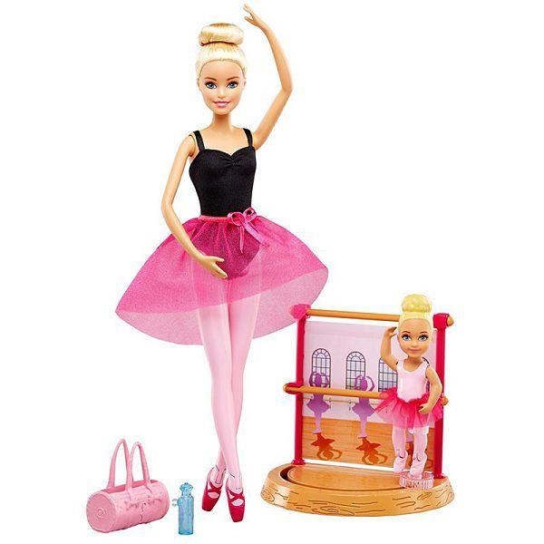 Игровой набор Балерина блондинка с маленькой девочкой Barbie