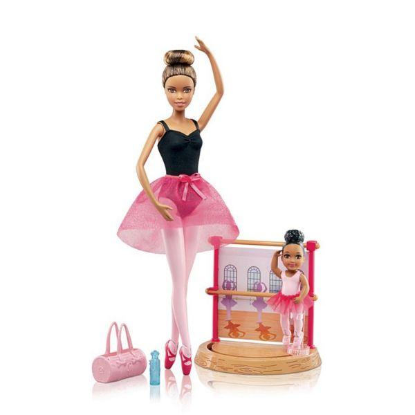Игровой набор Балерина брюнетка с маленькой девочкой Barbie