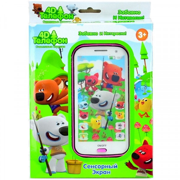 Интерактивный детский телефон Мими Мишки 4D