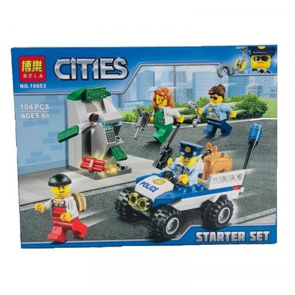 Конструктор BELA Cities 10653 Набор для начинающих Полиция