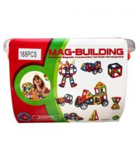 Магнитный конструктор 188 деталей Mag-Building Brain Up GB-W188