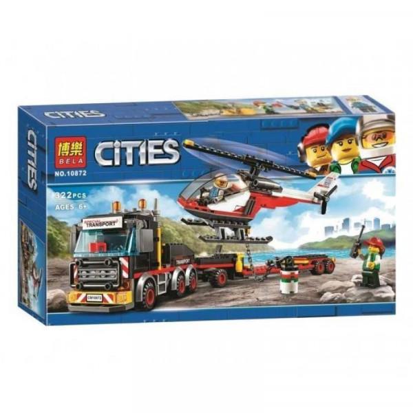 Конструктор BELA Cities 10872 Перевозчик вертолета