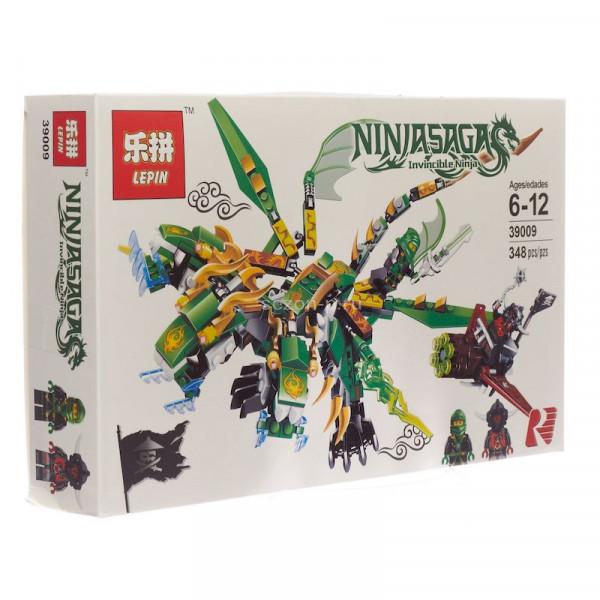 Конструктор Lepin New Ninjiasaga Blocks 39009 Зеленый дракон Кая