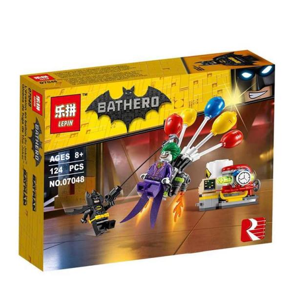 Конструктор Lepin Bathero 07048 Побег Джокера на воздушном шаре