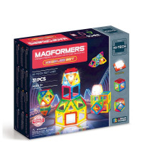Магнитный конструктор MAGFORMERS Neon Led set 31pcs 709007