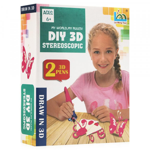 3D ручка Diy 3D Stereoscopic 2 ручки