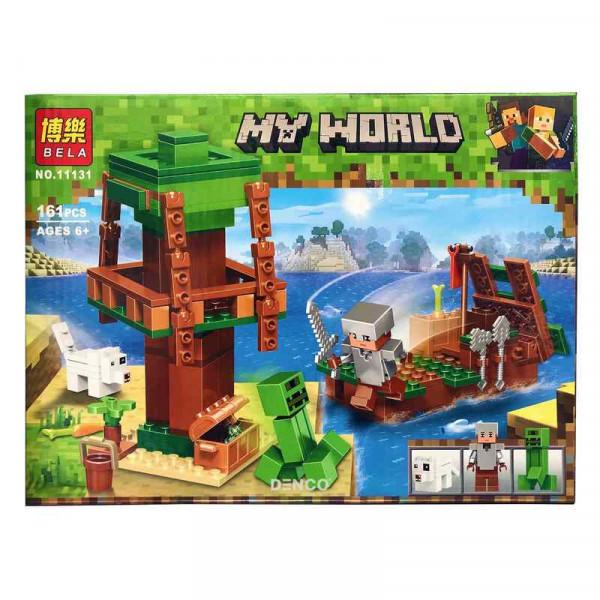 Конструктор BELA My World 11131 Путешествие к острову сокровищ на корабле
