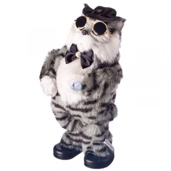"Музыкальная игрушка - Танцующий кот ""Базилио"" серый"