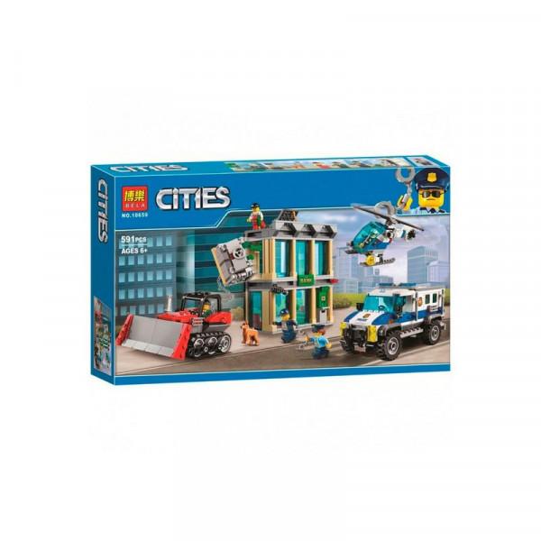 Конструктор BELA Cities 10659 Ограбление на бульдозере