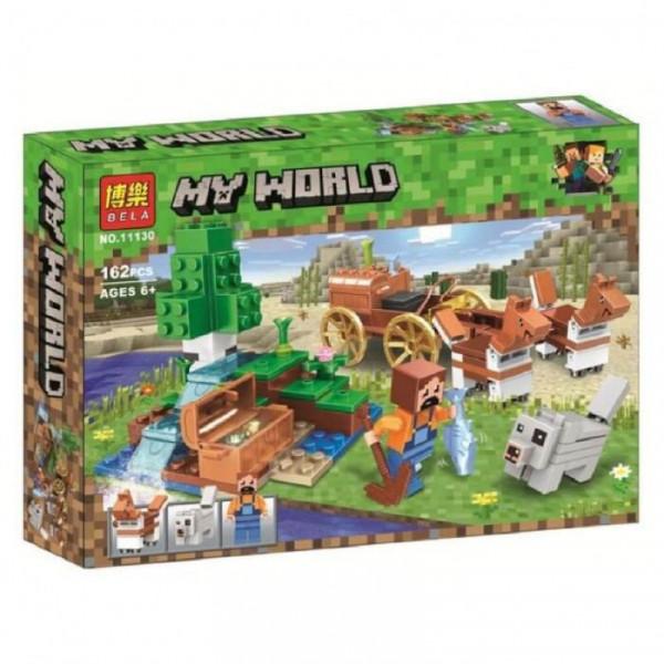 Конструктор BELA My World 11130 Сокровищница в лесу у водопада