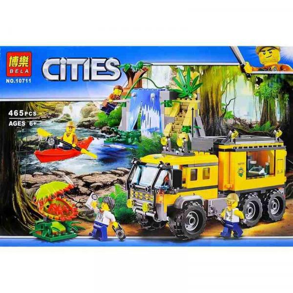 Конструктор BELA Cities 10711 Передвижная лаборатория в джунглях