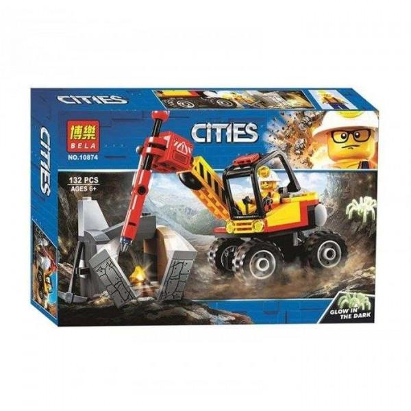 Конструктор BELA Cities 10874 Трактор для горных работ