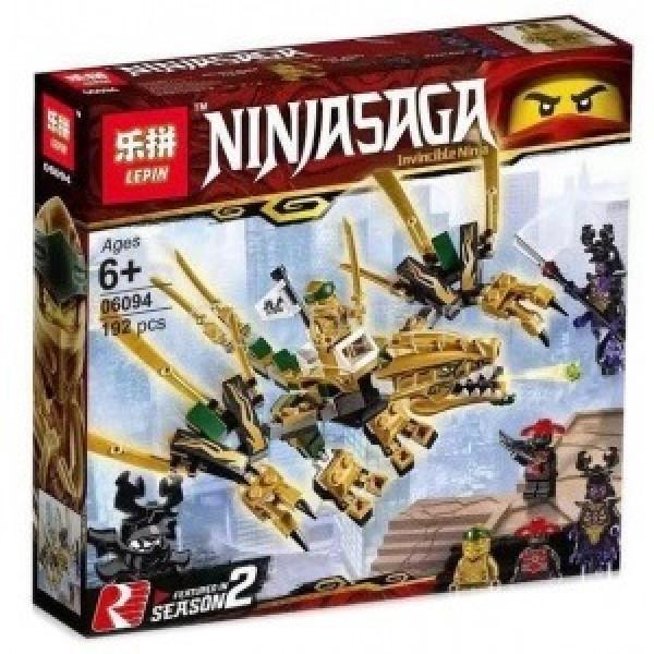 Конструктор LEPIN Золотой дракон Ниндзя Го (NinjaGo 06094)