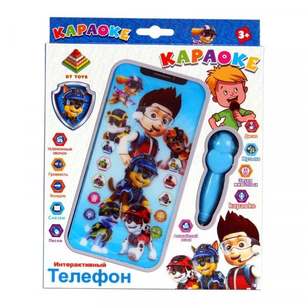 Интерактивный детский телефон Щенячий Патруль Караоке