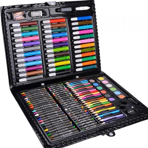 Набор для рисования 168 предметов (розовый)