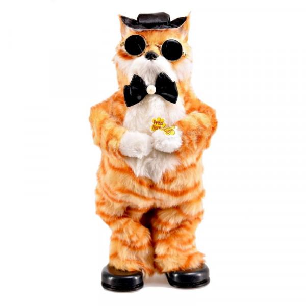 "Музыкальная игрушка - Танцующий кот ""Базилио"" рыжий"
