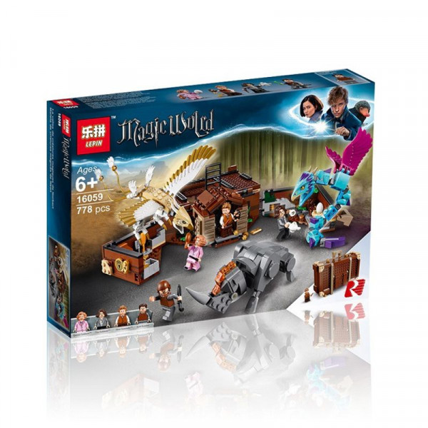 Конструктор Lepin Magic World 16059 Чемодан Ньюта Саламандера