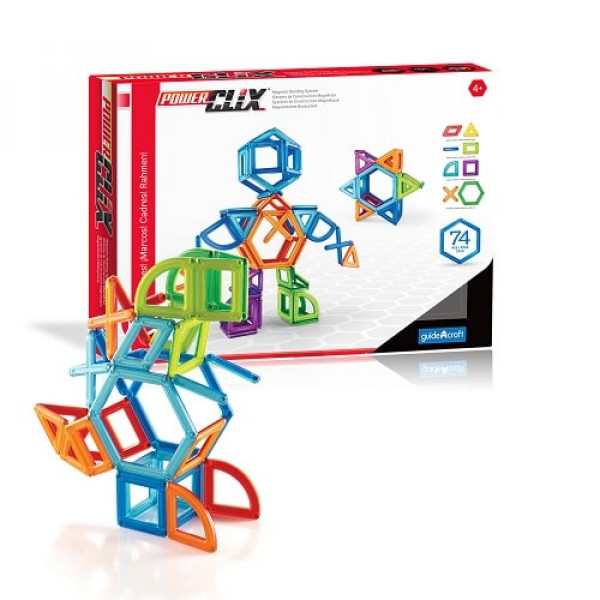 Конструктор магнитный PowerClix® Frames 74 деталей