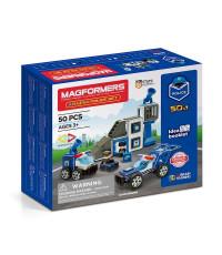 Магнитный конструктор MAGFORMERS 717002 Amazing Police Set 50pcs