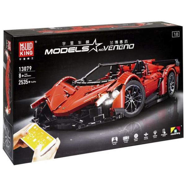 Радиоуправляемый конструктор «Ламборджини Veneno Roadster red» Mould King 13079
