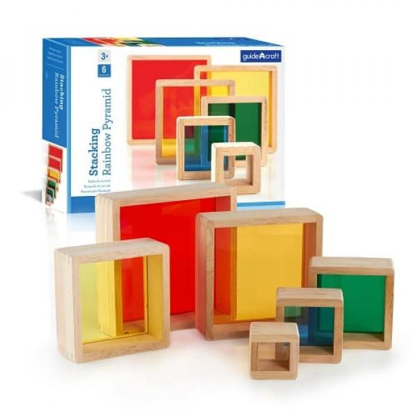Сортер пирамидка - Радужные блоки