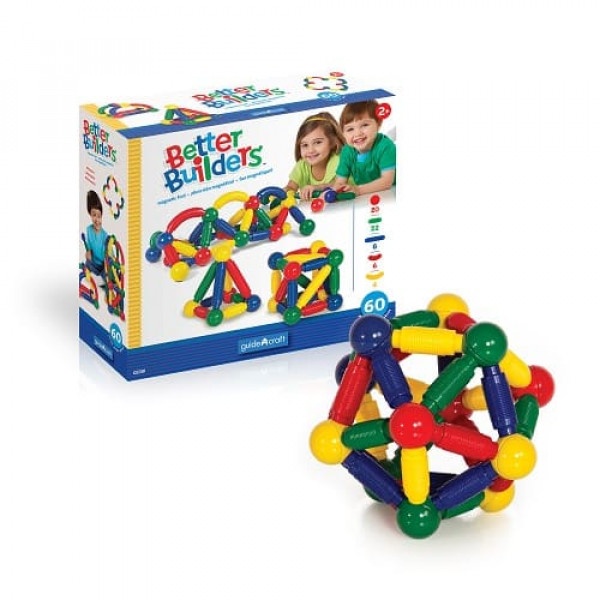 Конструктор магнитный для малышей Better Builders® 60 деталей