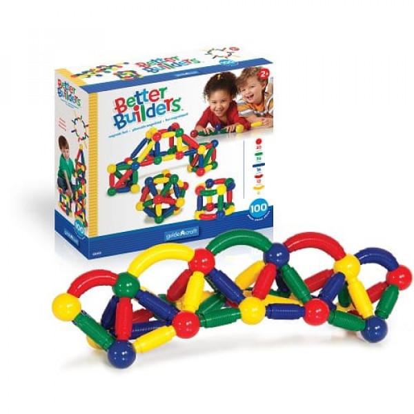 Конструктор магнитный для малышей Better Builders® 100 деталей