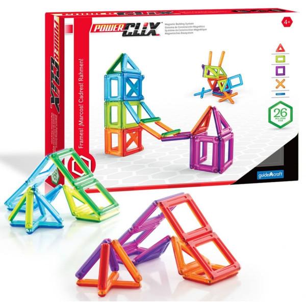 Конструктор магнитный PowerClix® Frames 26 деталей