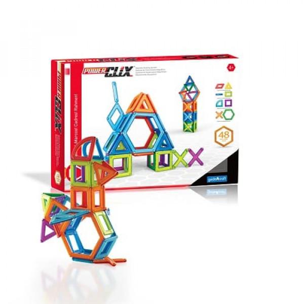 Конструктор магнитный PowerClix® Frames 48 деталей