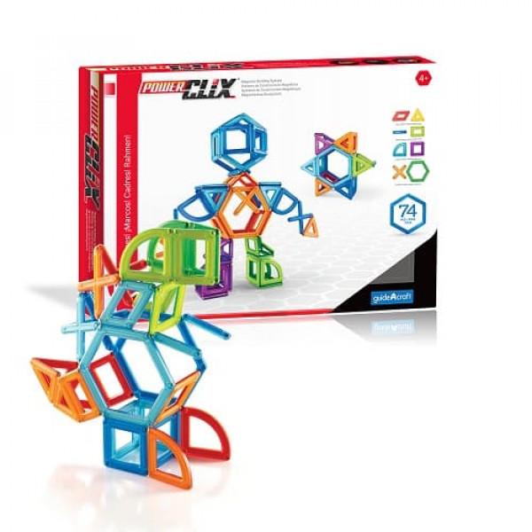Конструктор магнитный PowerClix® Frames 100 деталей