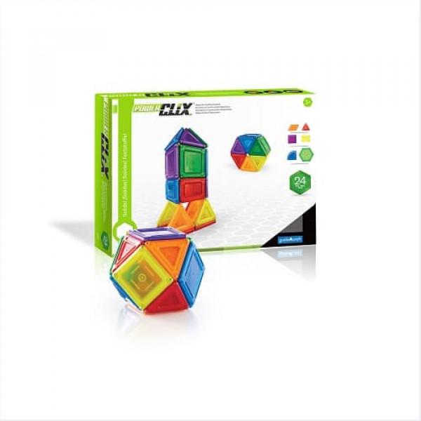Конструктор магнитный PowerClix® Solids  44 деталей