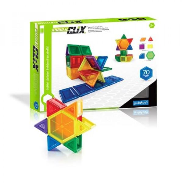 Конструктор магнитный PowerClix® Solids 94 деталей