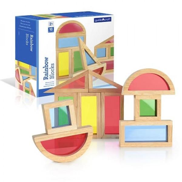 Сортер Rainbow Blocks  - Радужные блоки набор 10 деталей