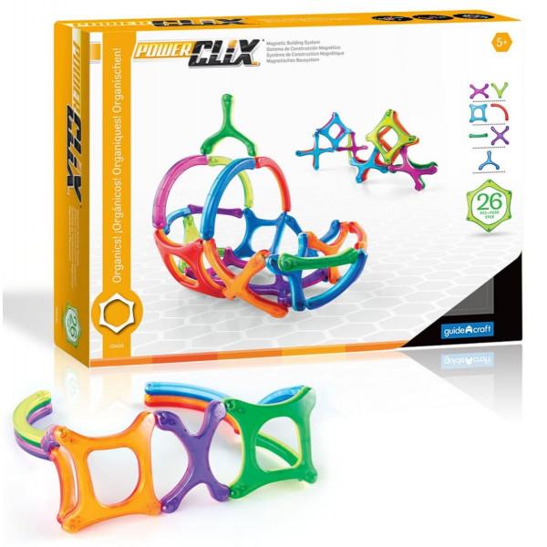 Конструктор магнитный PowerClix® Organics 48 деталей