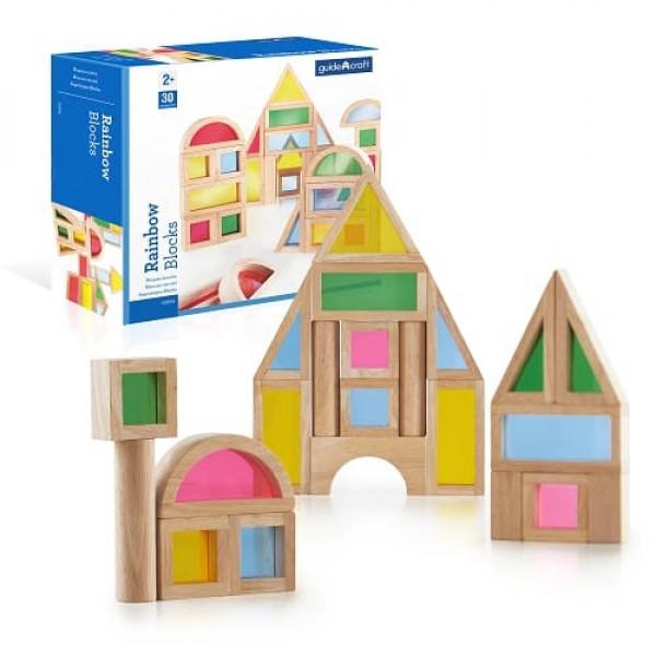 Сортер Rainbow Blocks - Радужные блоки набор 30 деталей
