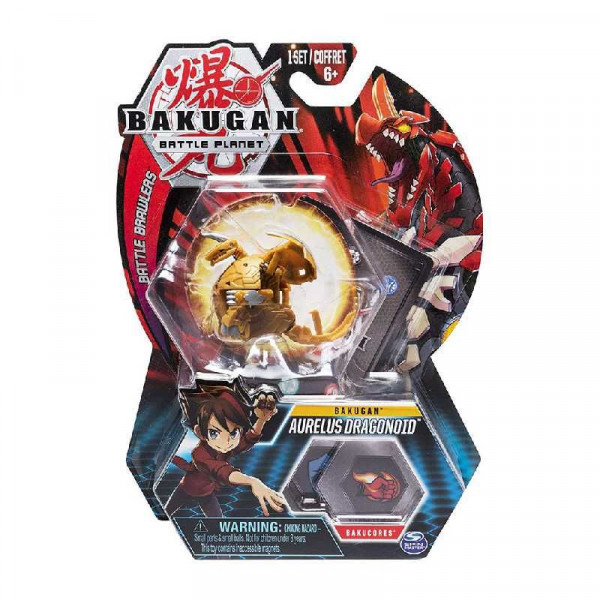 Фигурка-трансформер Bakugan Dragonoid, золотистый