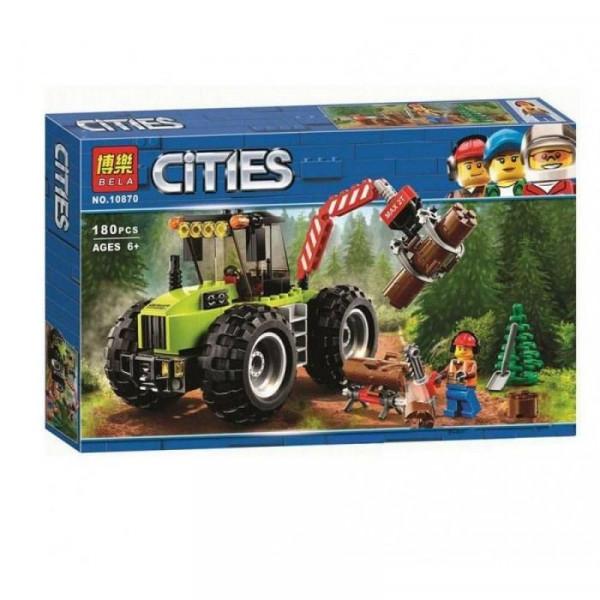 Конструктор BELA Cities 10870 Машина для заготовки леса