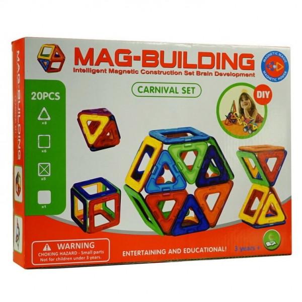 Магнитный конструктор Mag-Building 20 деталей Carnival GB-W20