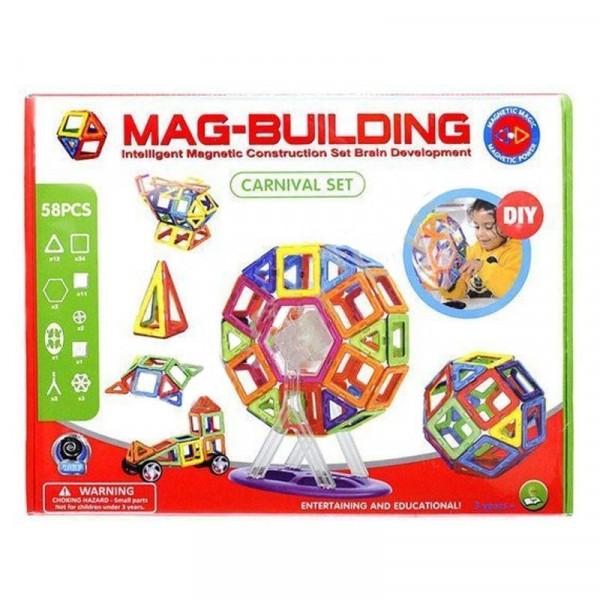 Магнитный конструктор Mag-Building 58 деталей Carnival GB-W58