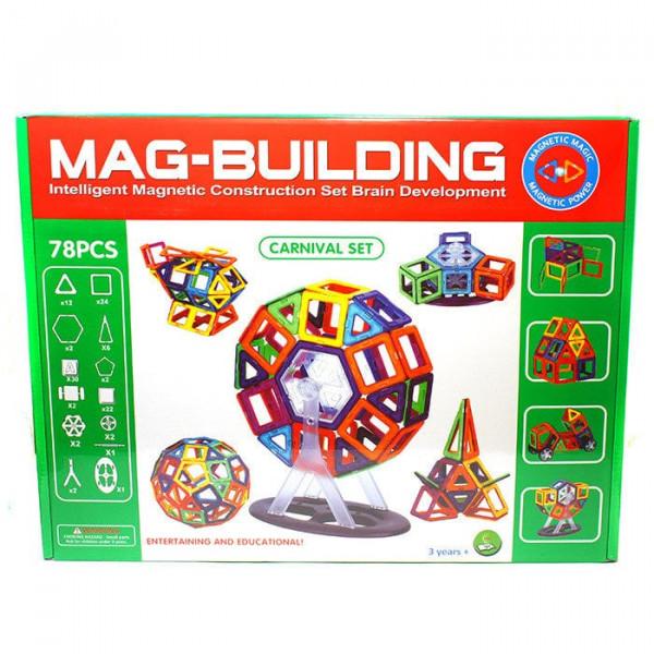 Магнитный конструктор Mag-Building 78 деталей Carnival GB-W78