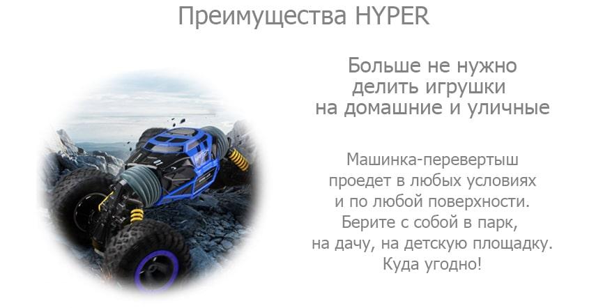 Машинка-перевертыш на радиоуправлении ХАЙПЕР (HYPER)